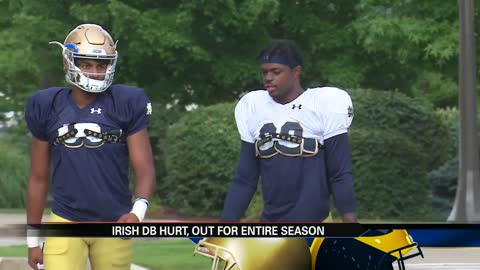 Irish defensive back out for the season with torn ACL