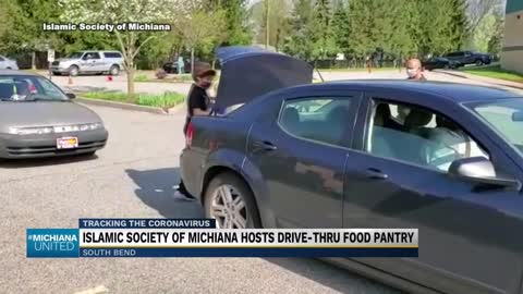 Islamic Society of Michiana holds mobile food pantry