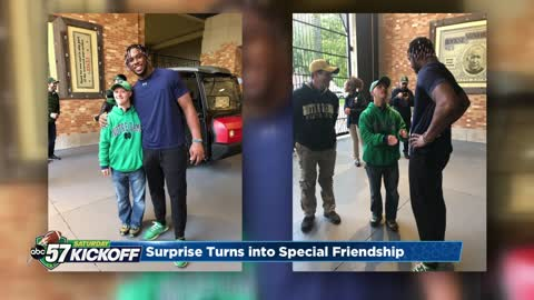 Khalid Kareem continues friendship with special fan Griffin Sotok