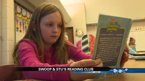 Kids hoping to hit a home run with Swoop & Stu's Reading Program