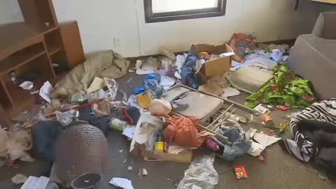 Landlord left to clean up filthy home abandoned by family