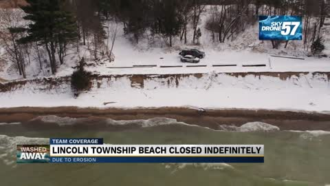 Lincoln Township beach closes indefinitely