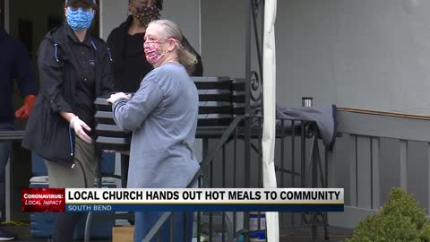 Church hosts free drive-thru meal pickup