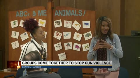 Local community gathers to remember victim of gun violence