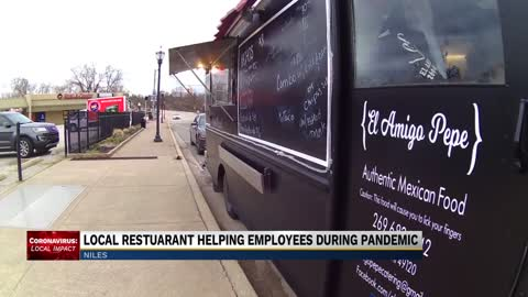 Local restaurant using food truck to help support employees,...