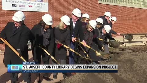 Major library expansion breaks ground with ceremony
