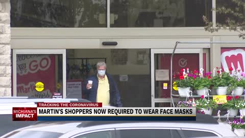 Martin's Supermarkets begins requiring face coverings for customers, employees