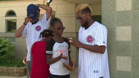 Mayor, South Bend Cubs players play catch with kids as part of Play Ball initiative