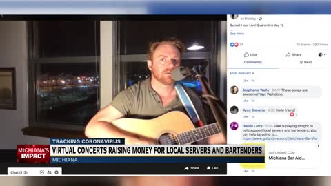 "Music with a Cause hosts 'Michiana Bar Aid,"" a virtual concert..."