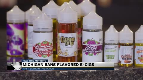 Michigan bans flavored nicotine vaping products