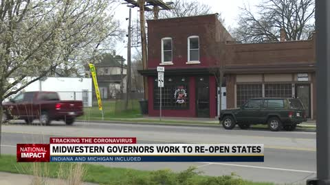 Midwestern governors work to re-open states
