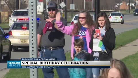 Mishawaka Police and Fire hold parade for birthday celebration