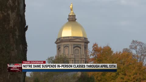 Notre Dame suspends in-person classes through April 13