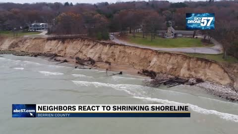Lakeshore erosion causes residential road to partially collapse in Stevensville