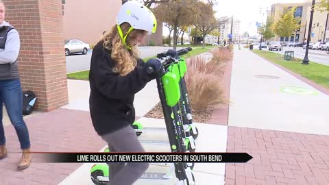 New Lime electric scooters zoom into South Bend