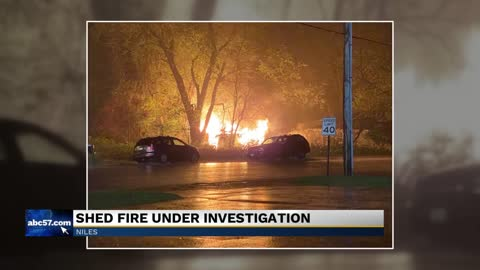 Niles shed fire under investigation