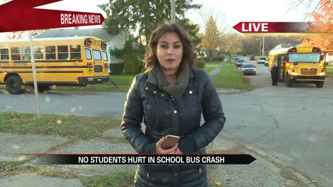 No children hurt in South Bend school bus crash