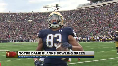 Notre Dame blanks Bowling Green at home