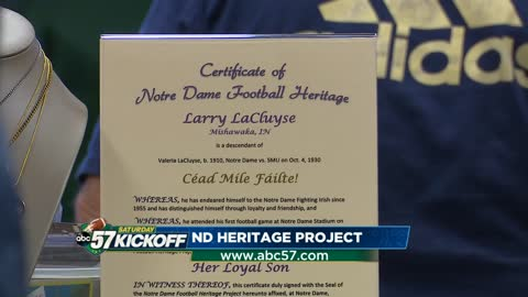 Notre Dame Football Heritage Project builds fan affinity