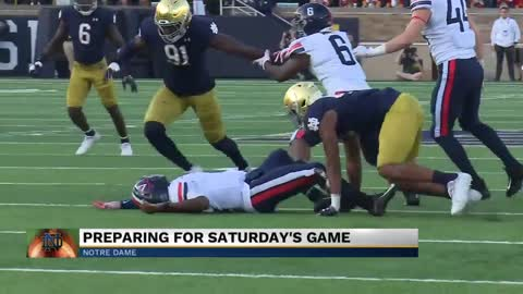 Notre Dame looking ahead to Bowling Green after win against Virginia...