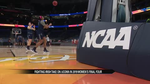 Notre Dame plays against UConn in the Final Four Friday night