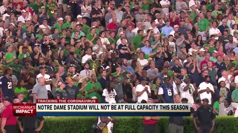 Notre Dame Football Stadium will not be at full capacity this season