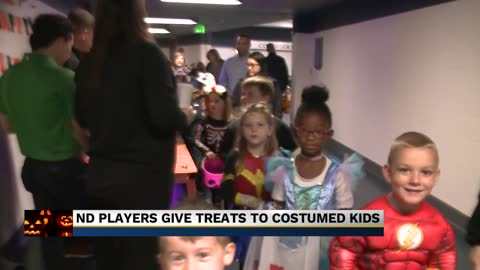 Notre Dame students participate in Halloween festivities