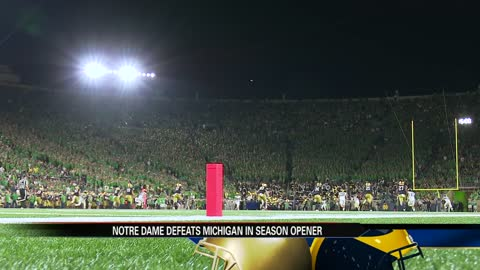 Notre Dame tops rival Michigan in season opener