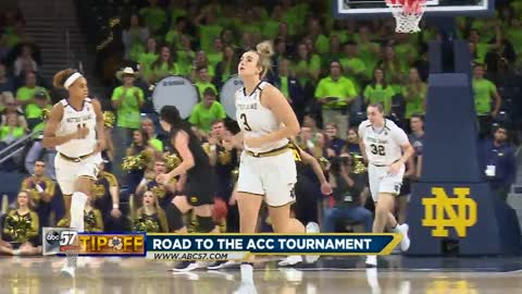 Notre Dame women's basketball team's road to the ACC tourney