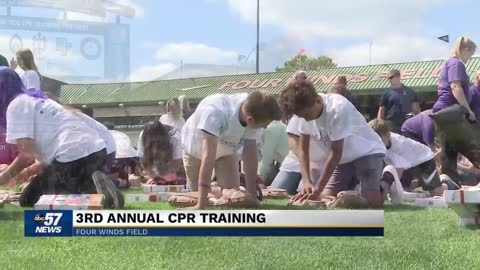 Over 1800 students attend Save a Life CPR training at Four Winds Field