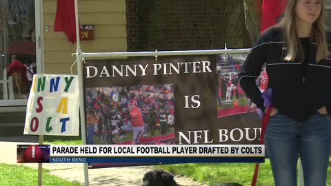 Parade held for local player drafted by Indianapolis Colts
