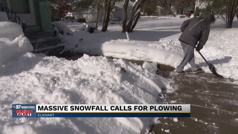 Parts of Elkhart hit with some of the most snowfall; Residents...