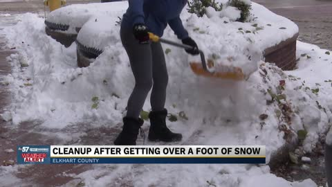 Parts of Elkhart hit with some of the most snowfall; Residents start digging out