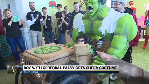 Penn students create wheelchair-fitted Halloween costume for Elkhart boy