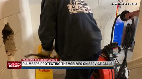 Plumbers, other service workers busy with stay-at-home orders...