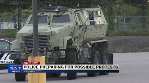 Police preparing for possible protests in Michigan City