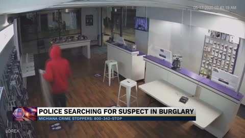 Police searching for suspect in burglary at South Bend business