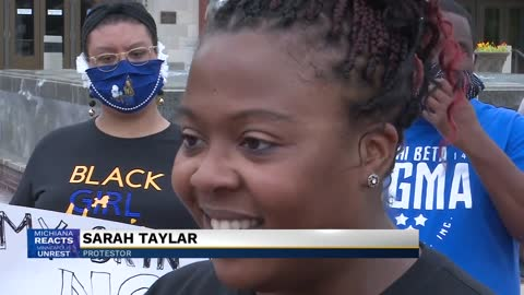 Protesters gather in South Bend demanding justice for George...