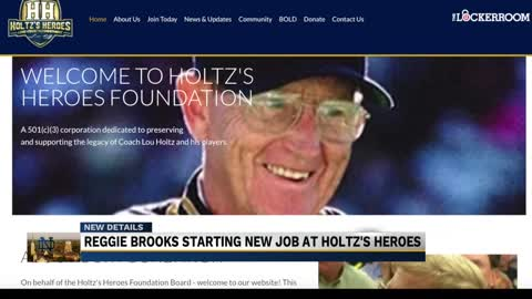 Reggie Brooks leaving Notre Dame to join Holtz's Heroes Foundation