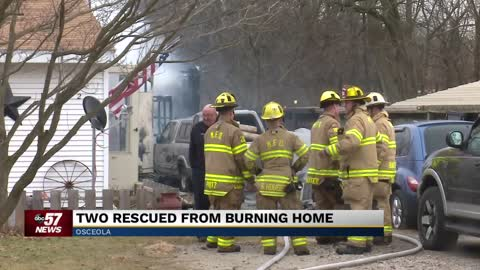 Residents rescued from burning home in Osceola