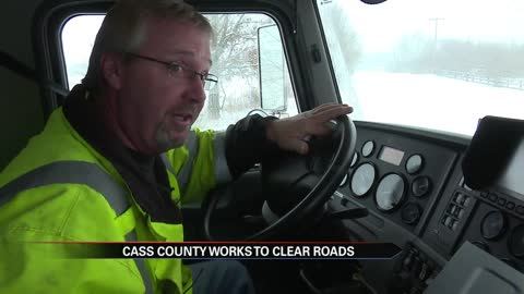 Ride along with Cass County snowplow driver