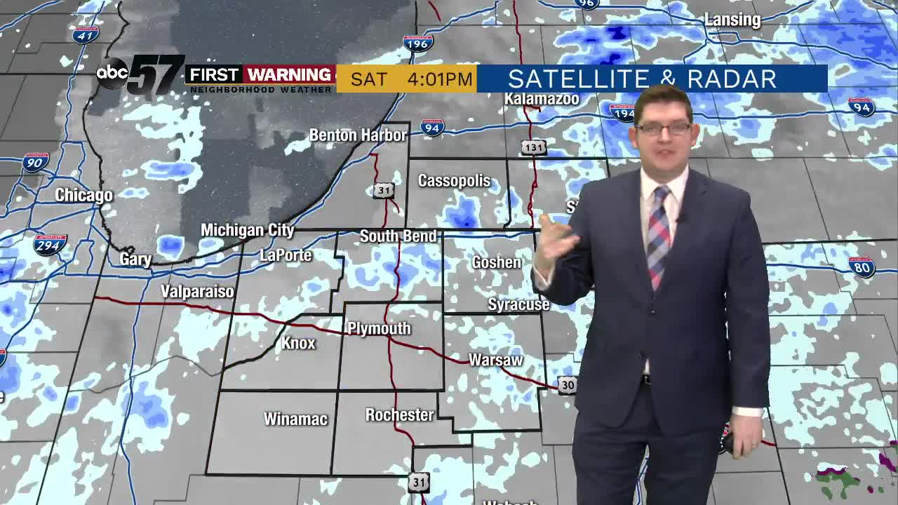 Tricky travel possible Sunday as wet snow moves in
