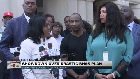 Benton Harbor leaders voice their opposition to the state of Michigan's plan to shut down Benton Harbor High School