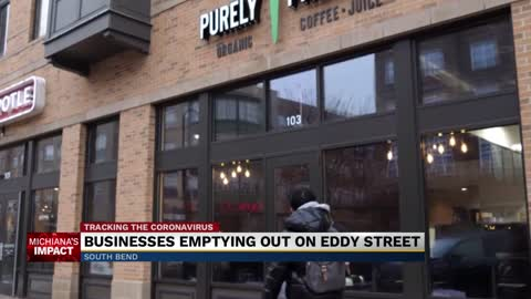 Small businesses on Eddy Street struggling without students in...