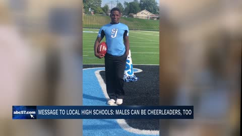 South Bend cheerleader shares message to local high schools
