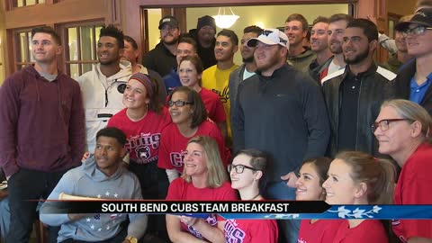 South Bend Cubs players have annual breakfast at Peggs