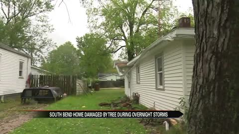 South Bend home damaged by overnight storms