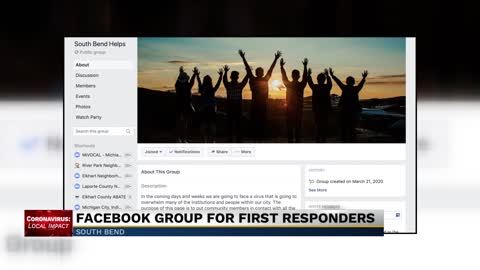 South Bend man creates Facebook group to help first responders, essential employees