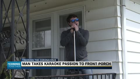 South Bend man performs karaoke from his front porch