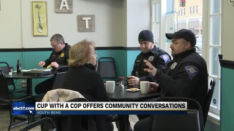 "South Bend restaurant hosts ""Cup with a Cop"""